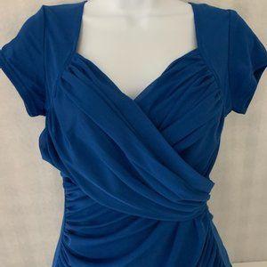 PattyBoutik Size M Blue Wrap Blouse